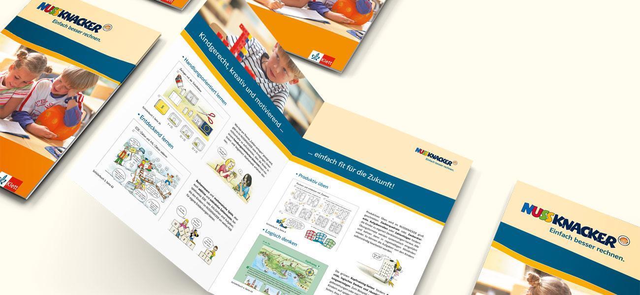 Blick in die Nussknacker Broschüren vom Klett Verlag
