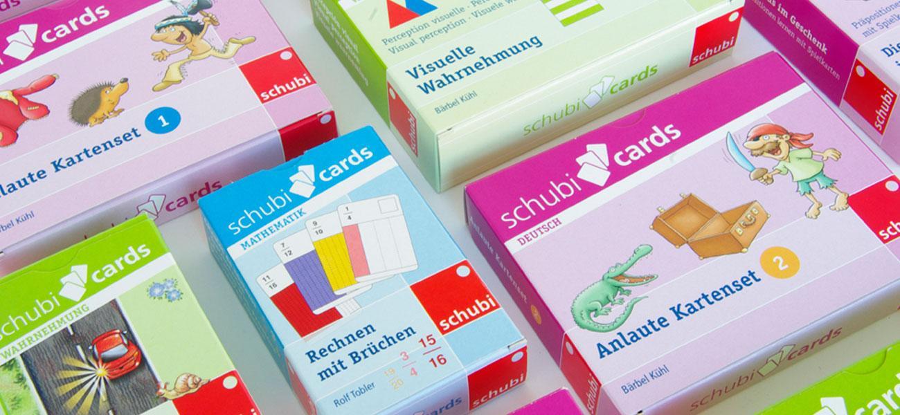 Schubicards spielerisches Lernen mit der Produktreihe