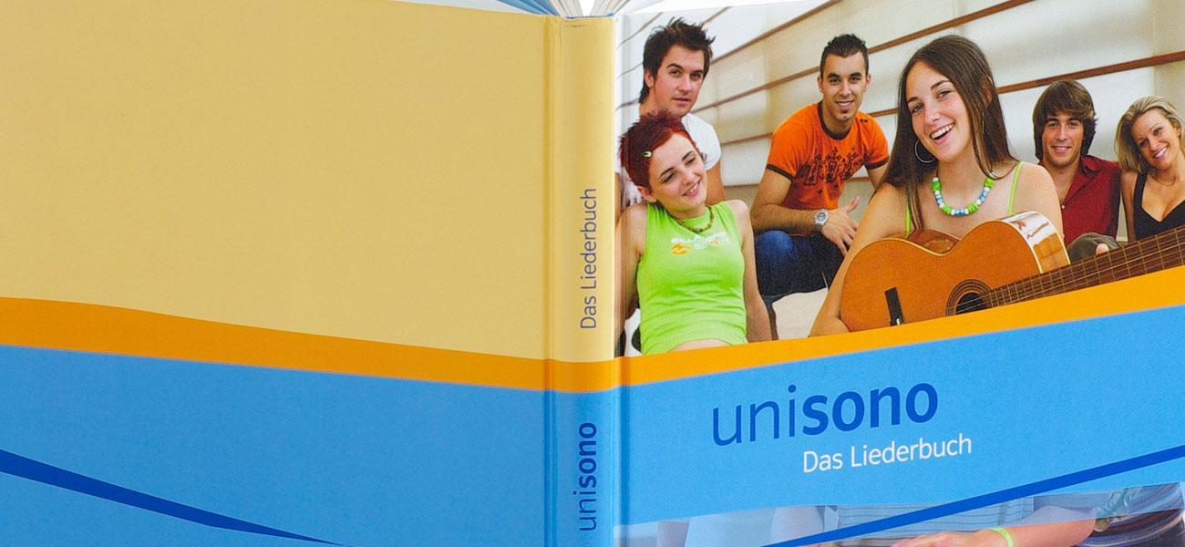 Schulbuch unisono Das Liederbuch Covergestaltung