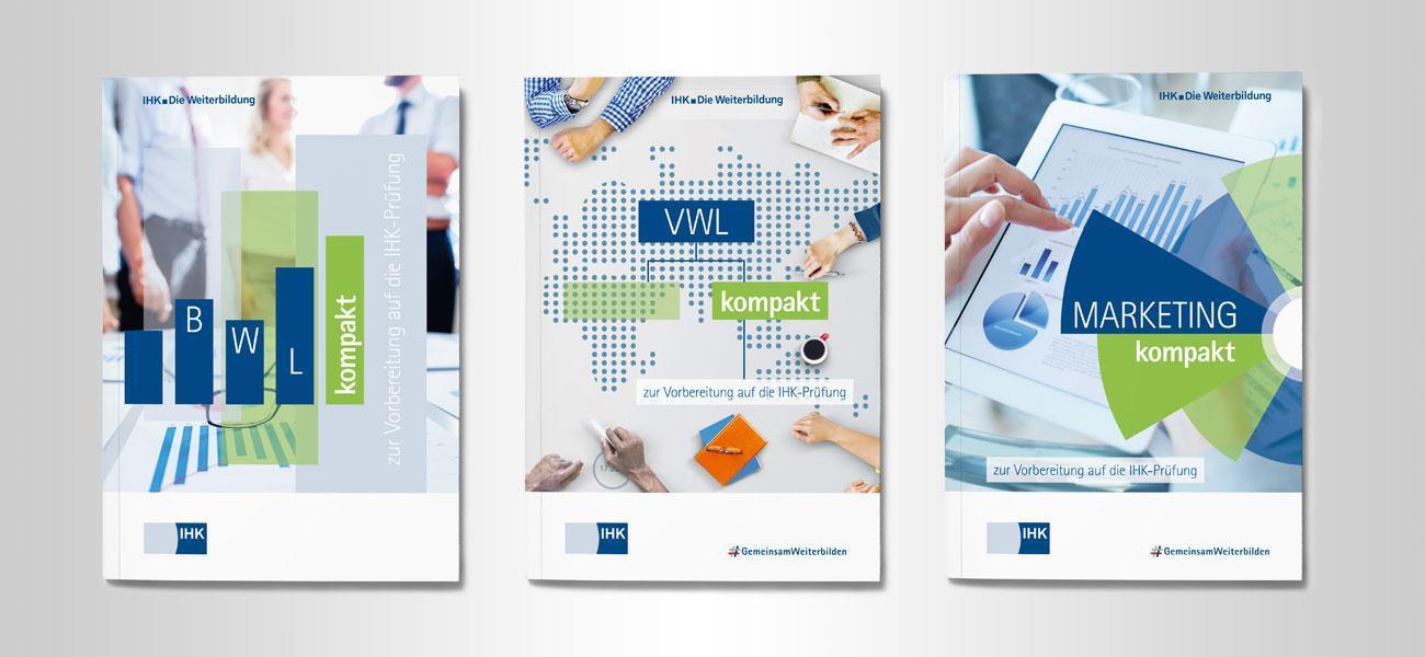 Umschlaggestaltung für IHK Lernmaterialien