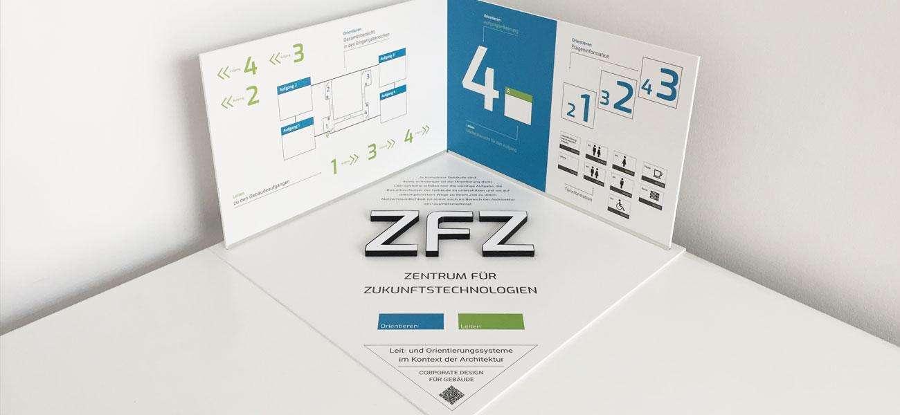 Modell zeigt alle Elemente der Gestaltung des Leit- und Orientierungssystems