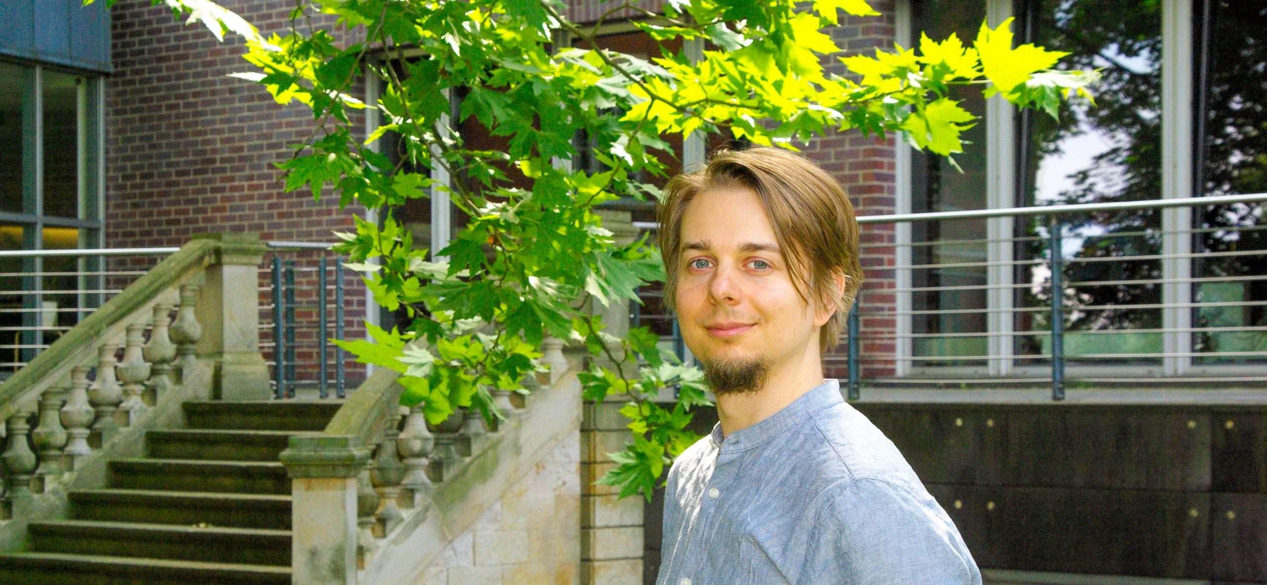 Portrait Ruben Strahl Haus des Buches Leipzig